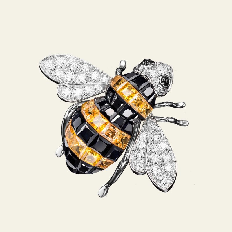 SABBADINI BEE BROOCHES